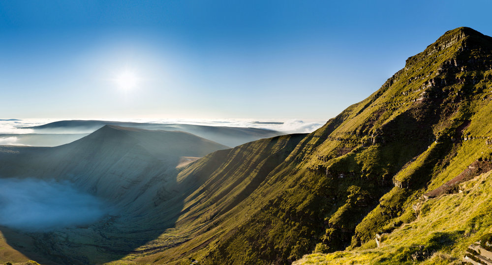 Pen y Fan's north face. Photo: Justin Foulkes / Alamy