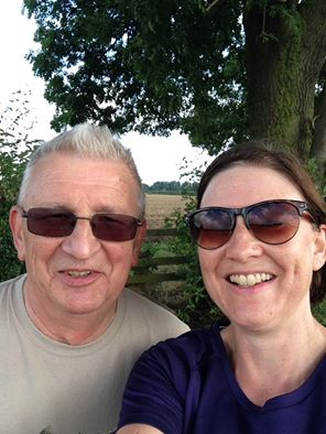 'Spontaneous walk with my Dad this morning, introducing him to my favourite stile, & his longest walk so far this year of 7.21 miles. He's actually walking more than he did before his quadruple heart bypass op'