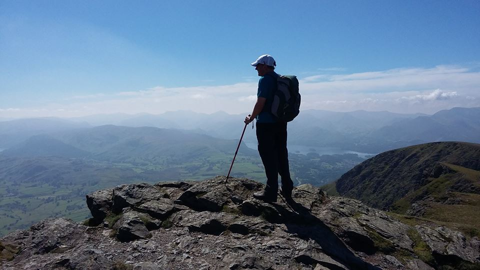 Chris Swanson: This was blissful Blencathra (Lake District) - blissful on the top, proverbial long, sweaty slog up, but who cares when the views are like this