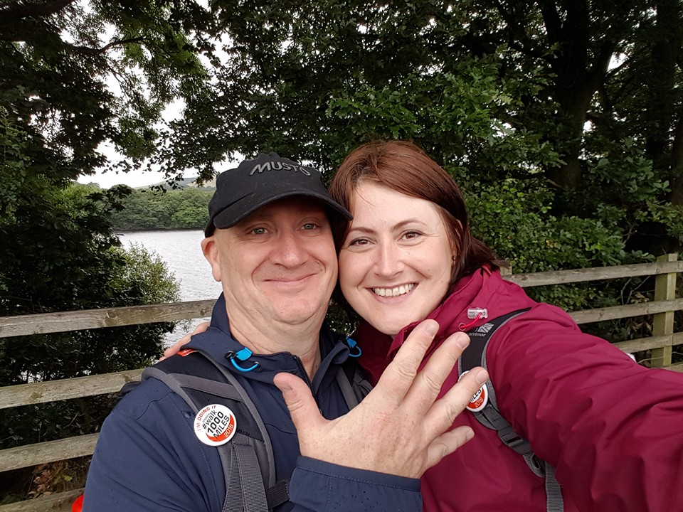 Catherine Waldron: 'This is my handsome John Fazz Farrand. My super duper guy and my best friend. He persuaded me to do this challenge when I needed to get out of a rut. It has done wonders for me'