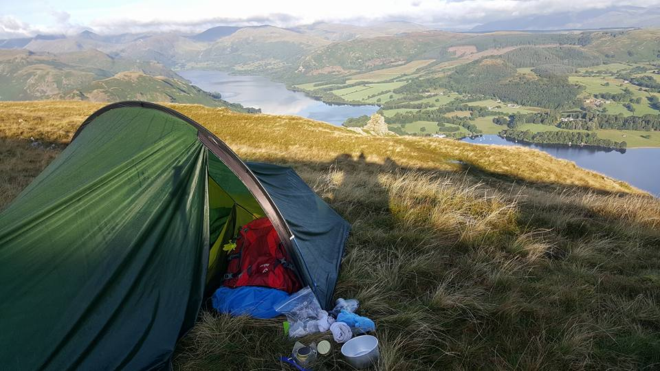 Jane Gregory: Don't tell anyone but we wild camped on Arthur's pike above Ullswater.....fab!!!
