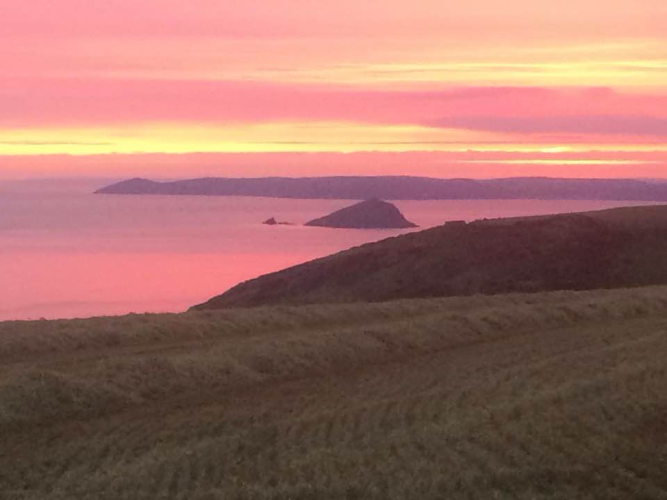 Simon Moorhouse: This will be the last of my sunset posts because I'll never be able to top this. It's the Wembury Mewstone with Cornwall as a back drop.