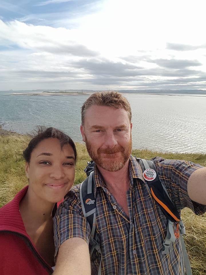 Roger Peaple: Fabulous to have my daughter accompany me on my first time on foot (rather than in car) across the causeway. One of my favourite places on earth –  Lindisfarne.