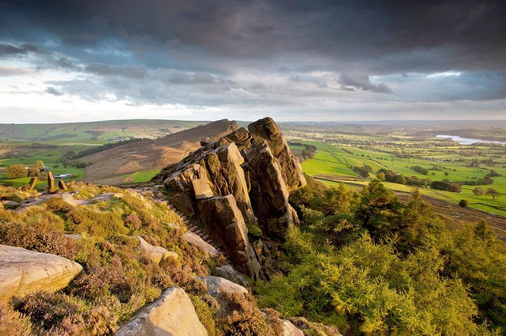 Hen Cloud, The Roaches, Peak District, England.