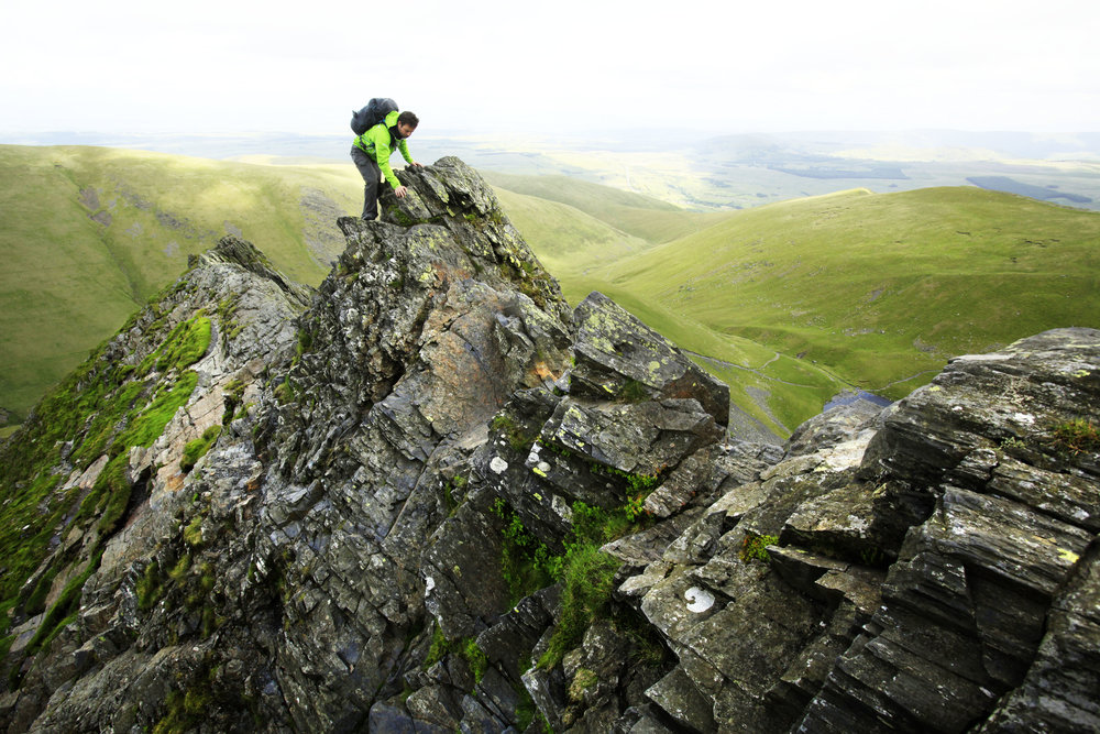 On Sharp Edge, Blencathra. Photo: Tom Bailey / Trail Magazine