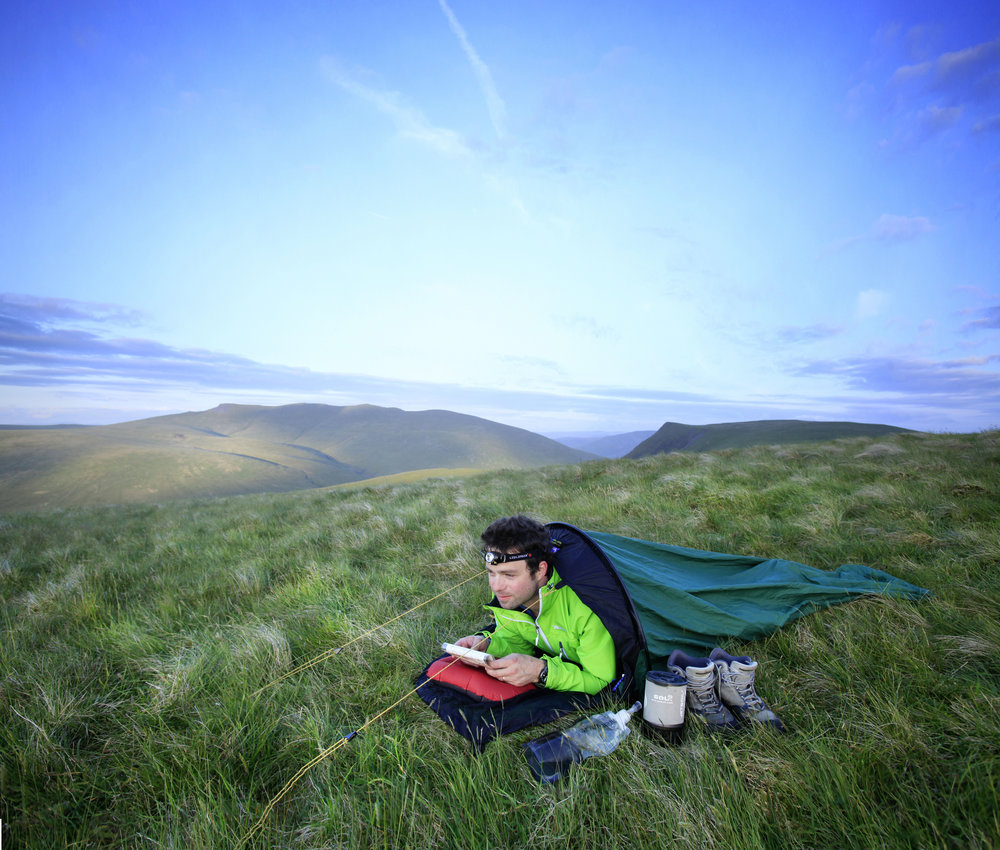 Skeleton pack – but still a comfy camp. Ish. Photo: Tom Bailey / Trail Magazine