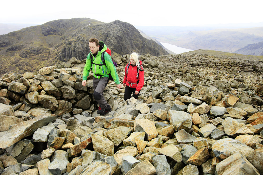 Scafell Pike's summit boulders. But why are they there? Photo: Tom Bailey / Trail Magazine