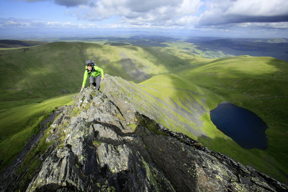 Scales Tarn below the ridge, rarely gets full sun. Photo: Tom Bailey / Trail Magazine