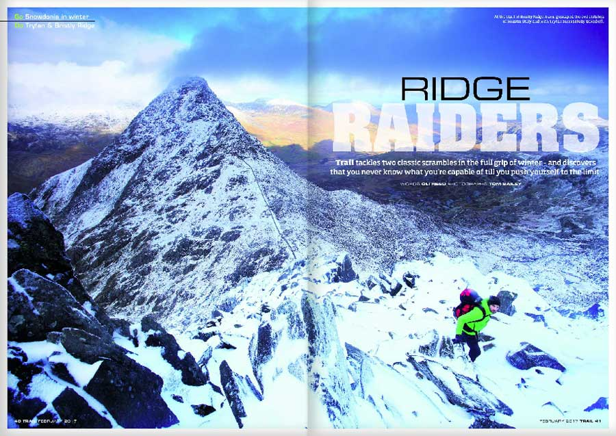 GO Snowdonia on winter - DO Tryfan & Bristly Ridge