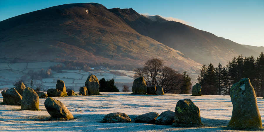 Castlerigg stone circle and Blencathra on a crisp Spring dawn. Photo by Terry Abraham.