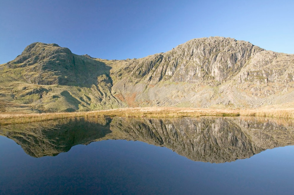 Stickle Tarn, Langdale, the Lake District, England.