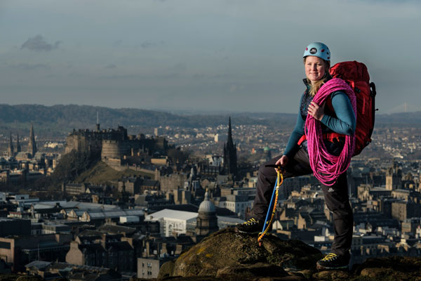 26 year old Edinburgh based and Devon born Mollie Hughes aims to become the youngest British and European woman to summit from both the north and south sides of Mount Everest. Photo credit: Mike Wilkinson Photography