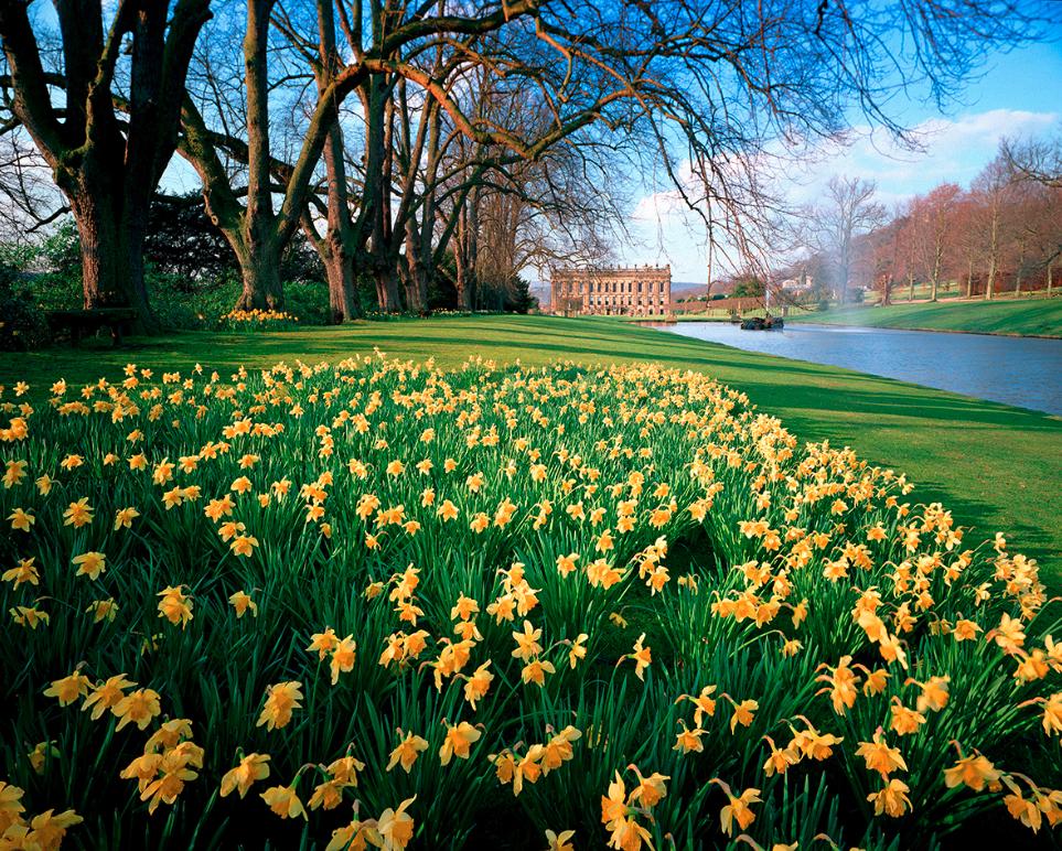 Chatsworth House, Peak District, Derbyshire, England.