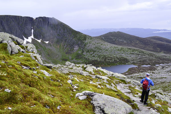 Looking back up to the summit of Lochnagar
