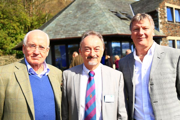 From left to right: legendary English mountaineer Doug Scott CBE, head of Blencathra FSC Tim Foster, and Chair of the Mountain Heritage Trust Trustees Jeff Ford.
