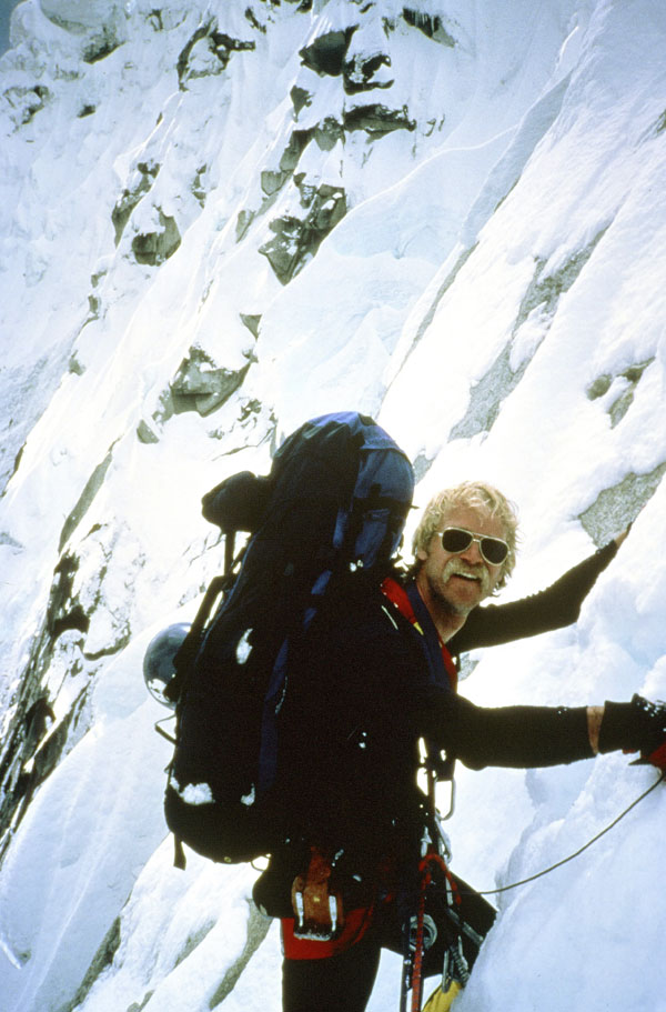 Jeff Lowe at his peak on the first ascent of Taulliraju, Peru in 1983: he was described by a contemporary as the best alpinist America has ever produced.