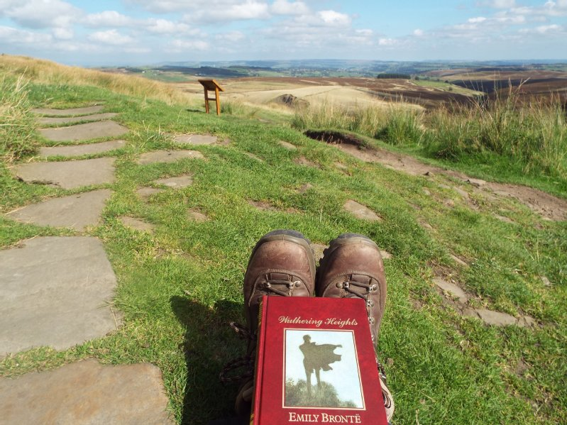 Linda Hopkinson at Top Withens on the Bronte Way,Yorkshire.jpg