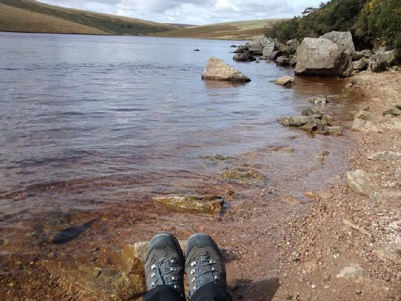 Sarah Brown at Avon Dam reservoir, South Dartmoor.jpg
