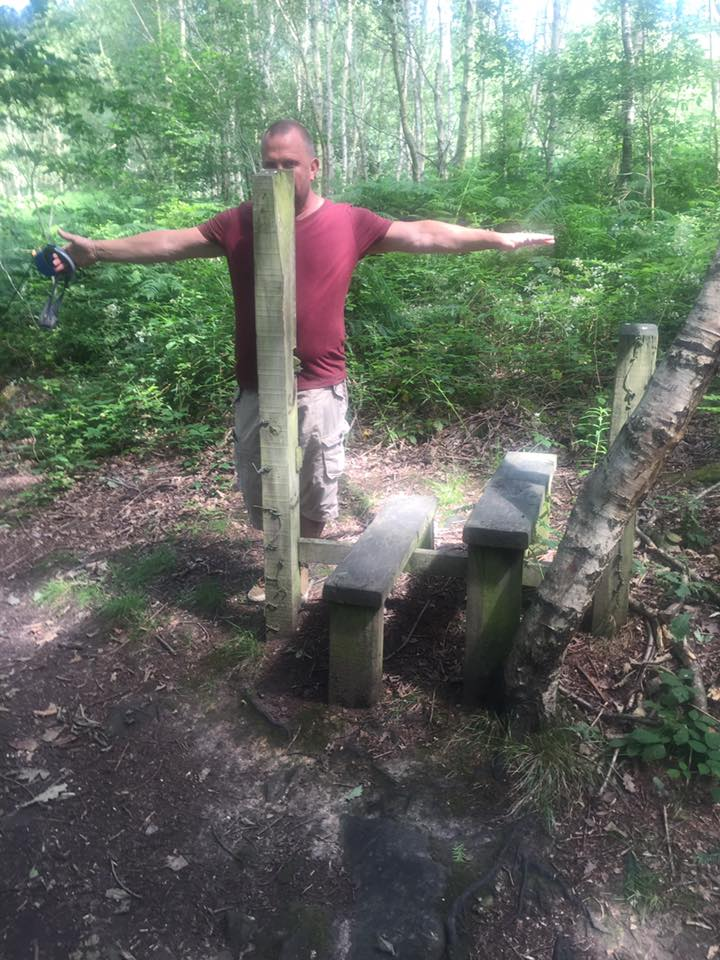 Sally Hitchings spotted a number of flaws with this stile in Boston park South Yorkshire.