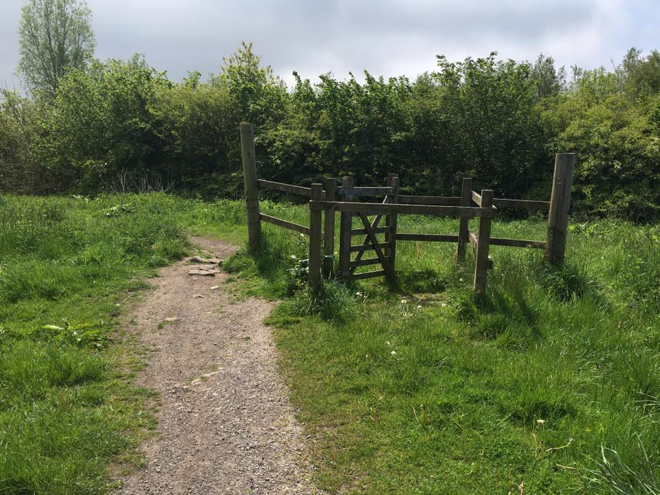 Michelle Neighbour spotted this high-falutin' gate arrangement utterly ignored by the path at Horrocks Wood & nature trail.