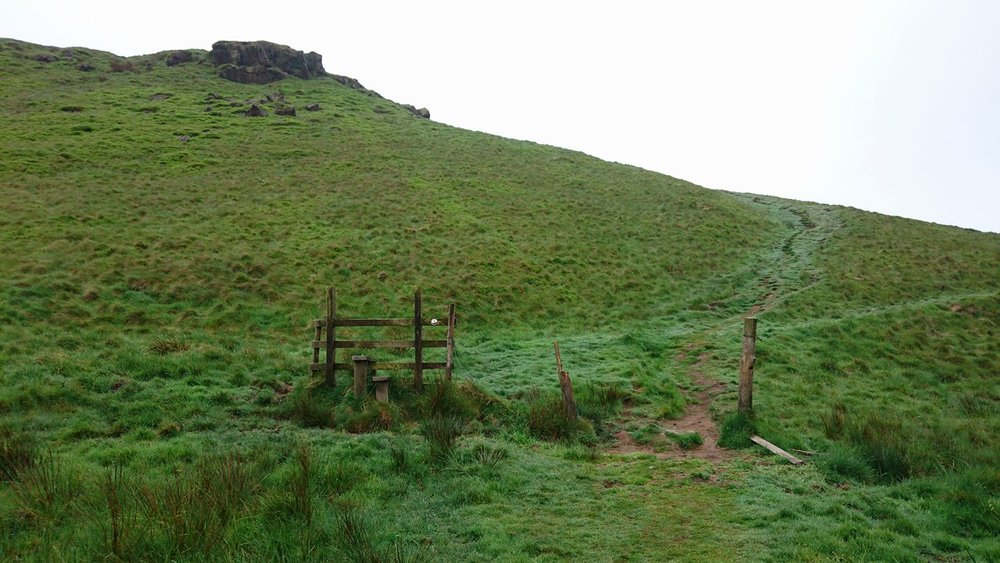 Nigel Riley wondered when the last time this stile felt the touch of feet was.