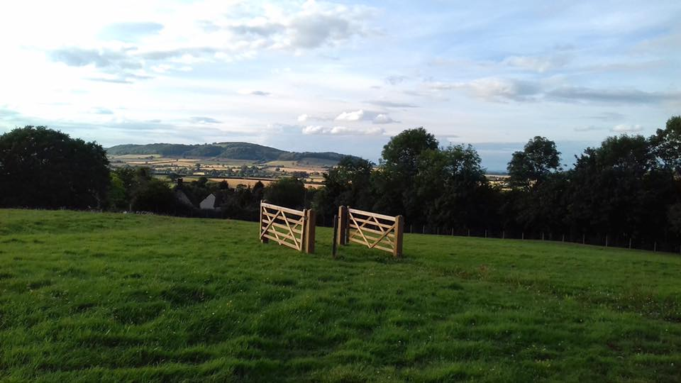 Two nice gates there, doing nowt, observed Linda Blackwell.