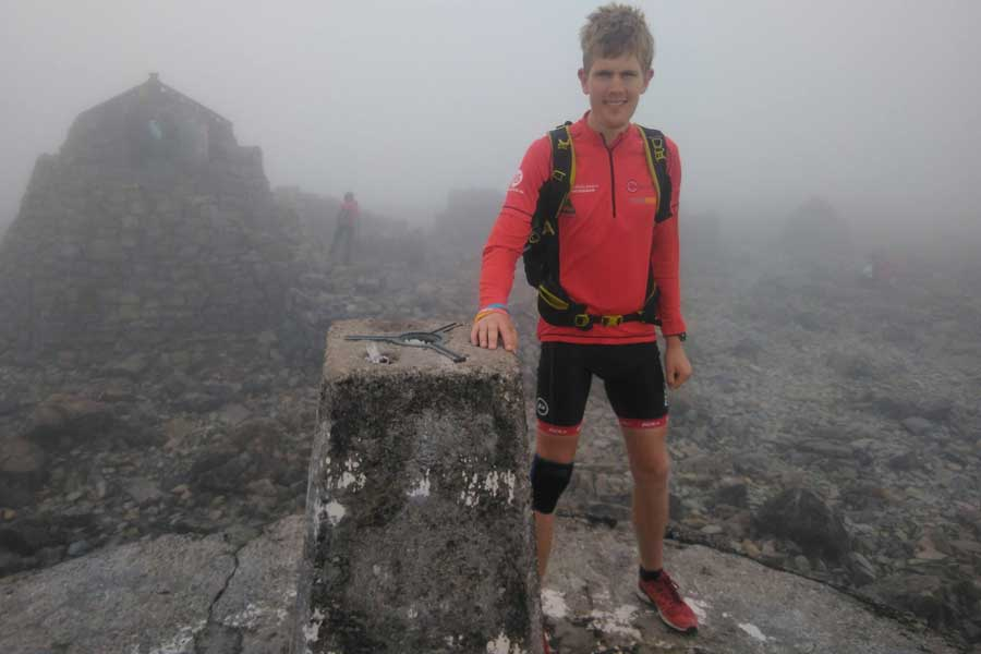Alex on the summit of Ben Nevis