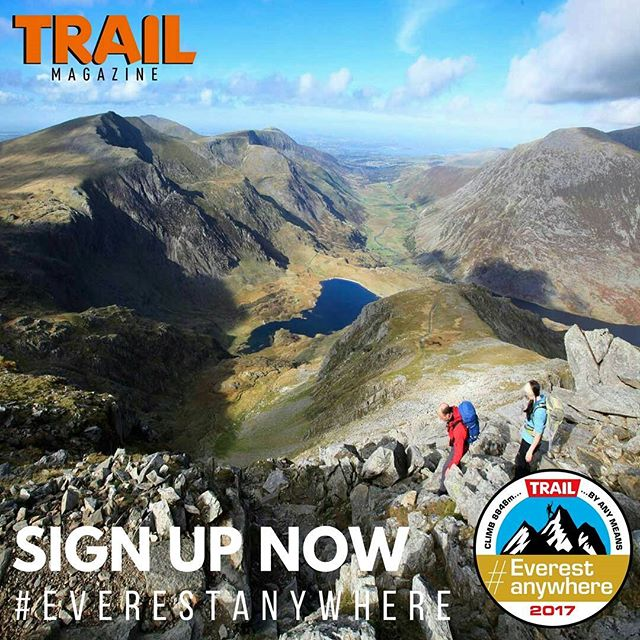 #MotivationMonday It's not too late to sign up to our #EverestAnywhere challenge! Count every hill you climb in 2017 and see how many metres of ascent you rack up to try and top the 8848m height of Mt Everest. This challenge, in association with @marmot can also send you on a quest to discover our hidden Marmots in the UK hills. For clues, more information and to sign up, head to:  www.livefortheoutdoors.com/everestanywhere  See you in the hills and... GOOD LUCK!  #hillwalking #wheresyoureverest #everestanywhere #livefortheoutdoors #getoutside #trailmagazine #mountainwalking #climbeverest