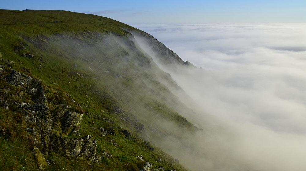 Cloud inversion on Blencathra.