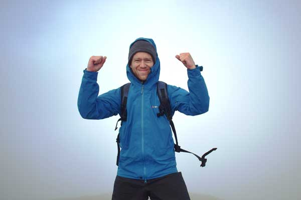 Final summit - James Forrest completes his challenge on Scafell Pike