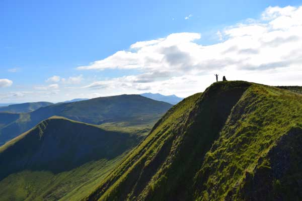 A glorious evening on the Aran ridge, Wales