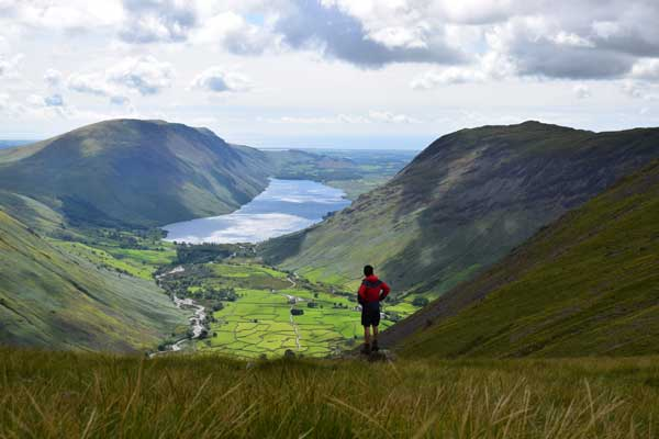 Looking down to Wastwater, Lake District