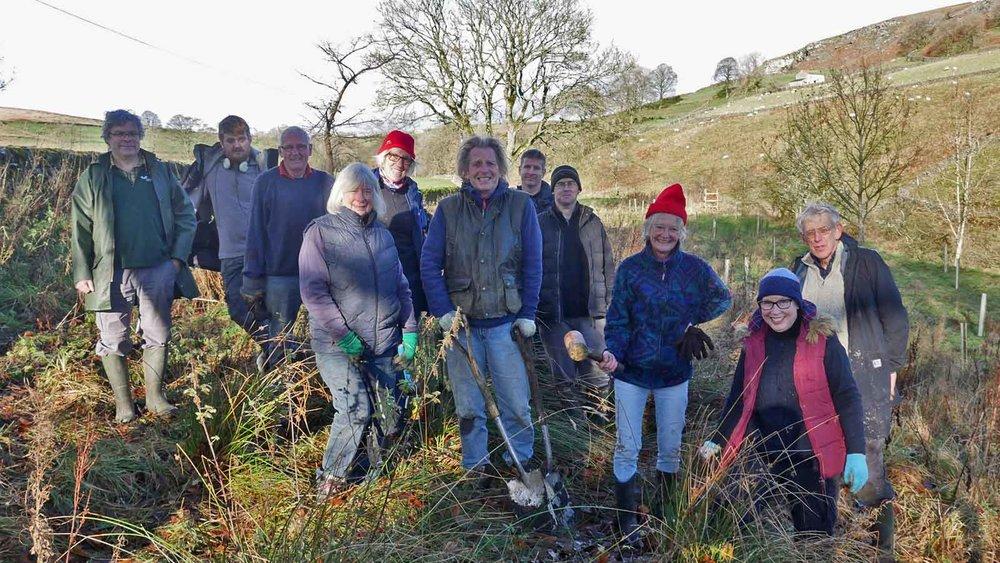 Hebden community woodland planting