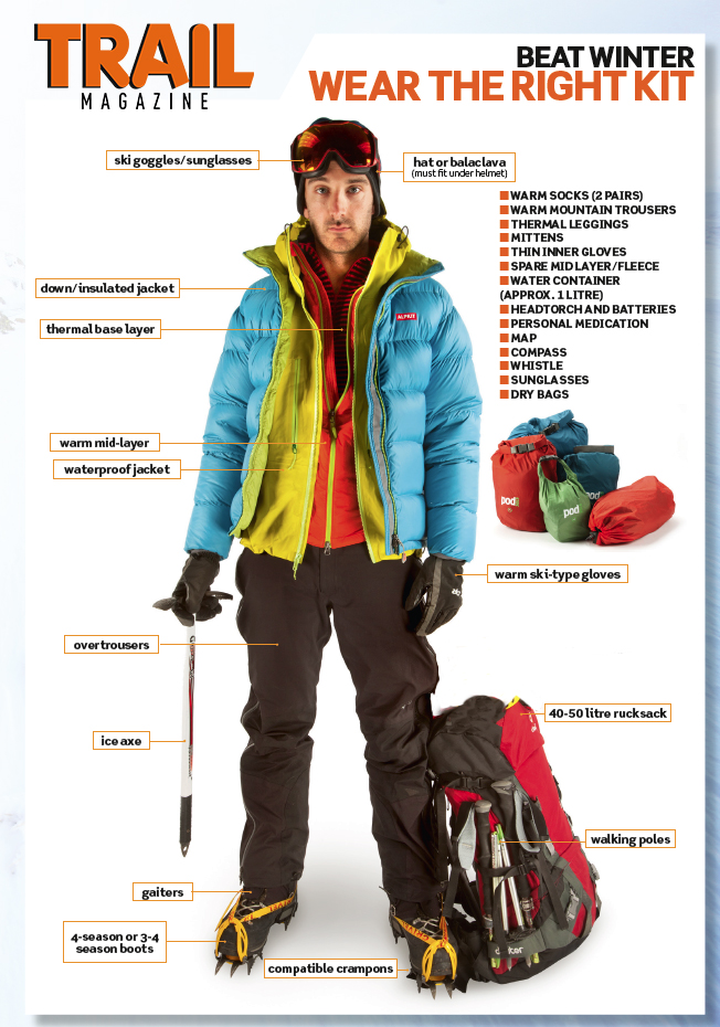 It's important to have the right kit if you're heading out in winter.