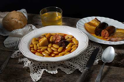 A hearty dish of fabada Asturiana – perfect after a long wander in the hills or by the sea.