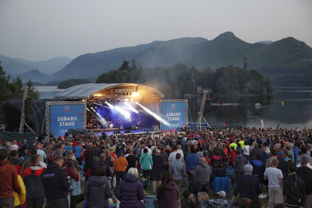 Perhaps the most beautiful setting for live music on the planet - Melanie C performs at Keswick Mountain Festival - photo by Dougie Cunningham