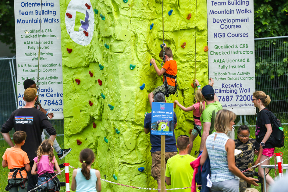 Young climbers in the Keswick Mountain Festival Village on Crow Park.jpg