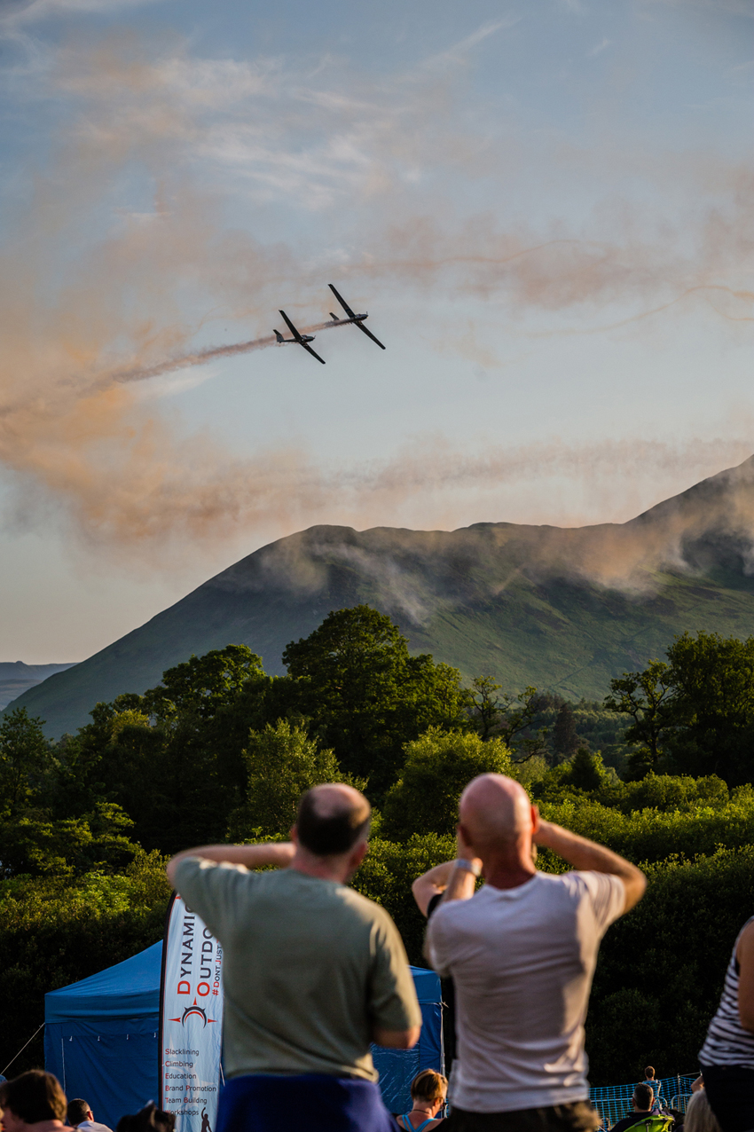 Visitors enjoy an air display at Keswick Mountain Festival.jpg