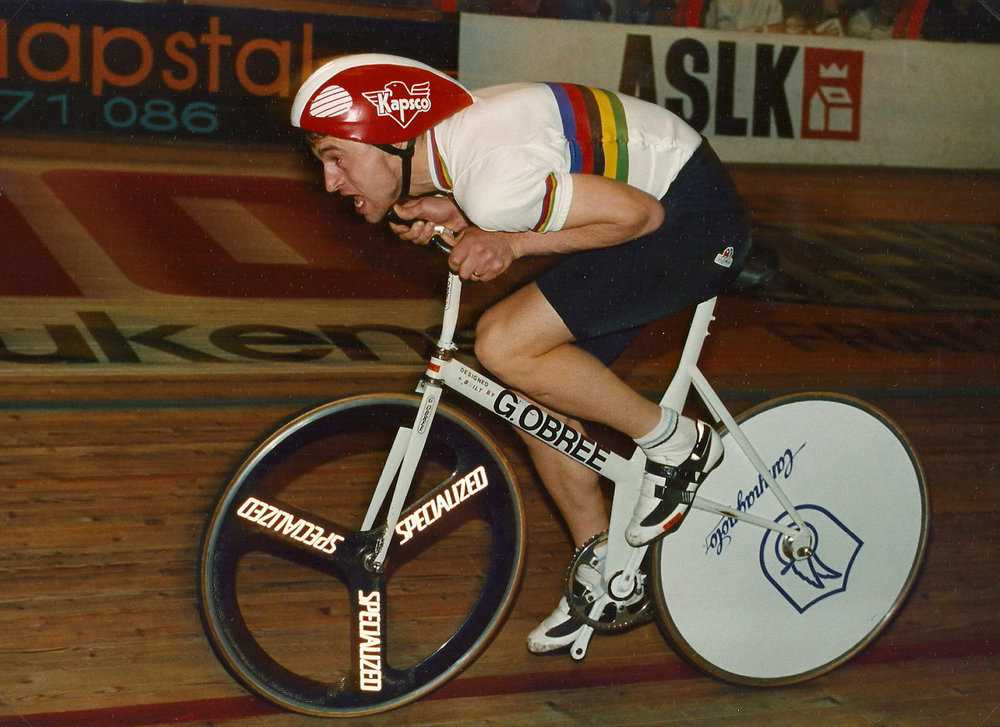 Graeme Obree in action
