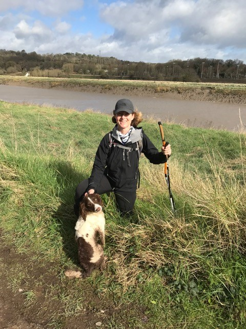 Vicky with Alfie on the Avon Gorge towpath in Bristol