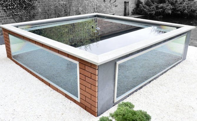 Instant pond complete with viewing windows practical Raised ponds for sale