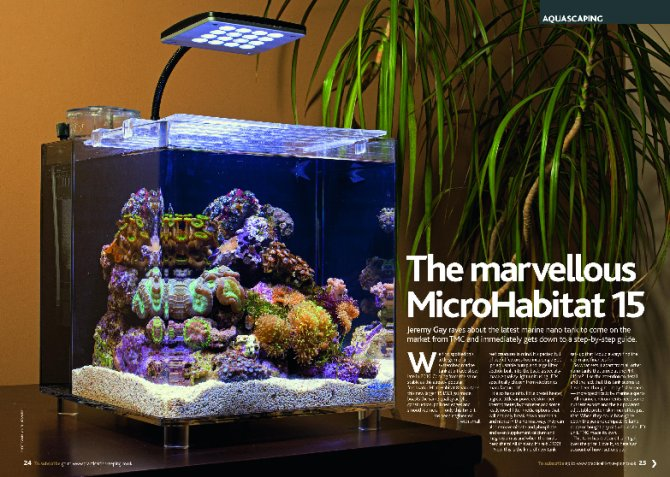 Microhabitat 15 Marine Nano Tank Watch The Video