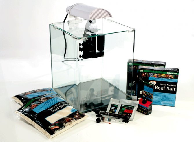 nano marinus cube complete plus aquarium by dennerle practical