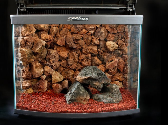 How to make a rocky tank background practical for Lava rock fish tank