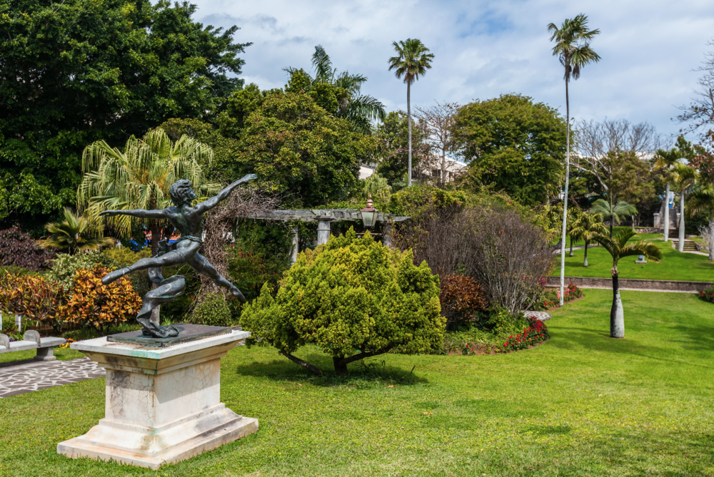 The peaceful Queen Elizabeth Park in Hamilton, Bermuda, where an act described as 'overt cruelty' took place.