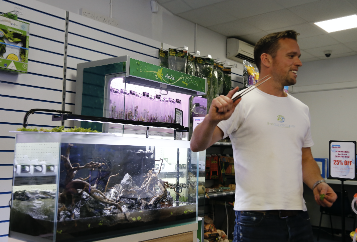 Get up close to George Farmer and his tongs as he embarks on a UK aquascaping tour, in which he will educate and inspire fishkeepers in the art of creating jaw-dropping aquariums.