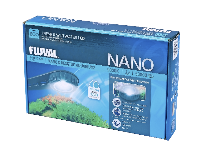 Small and bright: the new Nano Eco LED aquarium light from Fluval.