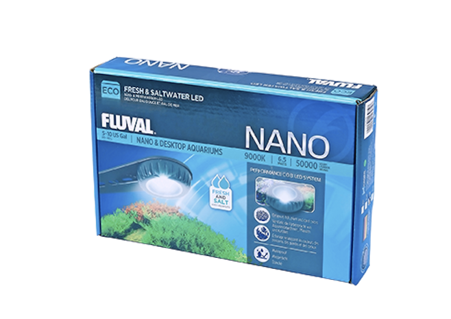 This great little Fluval Nano aquarium light is today's prize.
