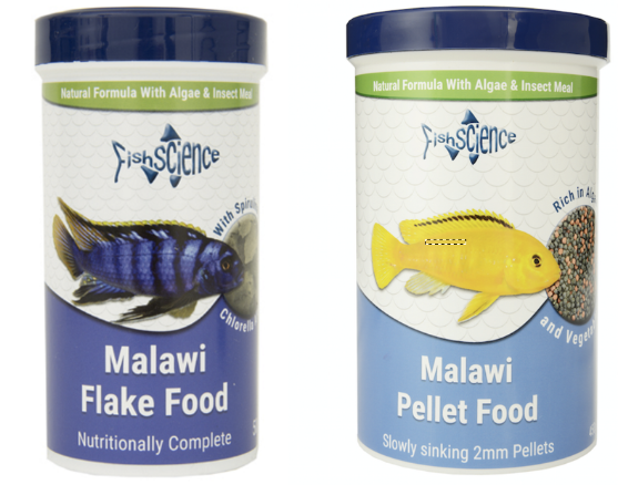 Malawi cichlid foods from FishScience.