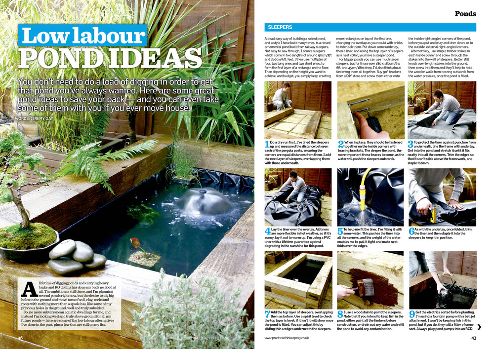Jeremy Gay offers you seven pond ideas that involve NO digging!